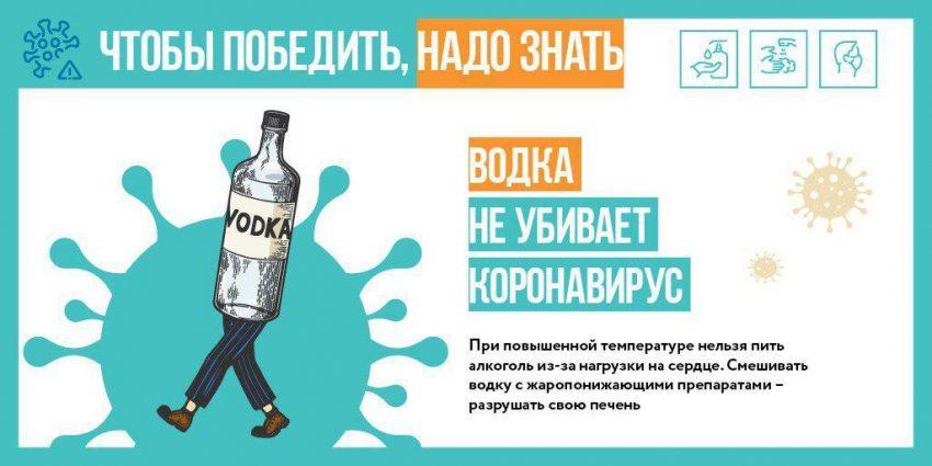 Правда ли, что алкоголь убивает коронавирус